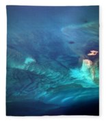 Coral Reef From 28000 Feet Fleece Blanket