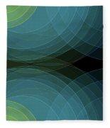 Coral Reef Semi Circle Background Horizontal Fleece Blanket