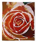 Coral Rose In The Mix Fleece Blanket