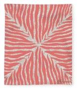 Coral Zebra 2 Fleece Blanket