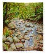 Coranderrk Creek Yarra Ranges Fleece Blanket