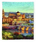 Cordoba Mosque Cathedral Mezquita Fleece Blanket