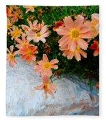 Coreopsis Sienna Sunset Fleece Blanket