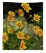Coreopsis Tickseed Fleece Blanket