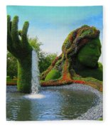 Corey Rockafeler - Mother Nature Fountain Fleece Blanket
