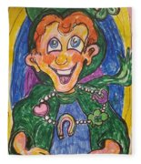 Corey The Lepperchaun Lucky Charms Fleece Blanket
