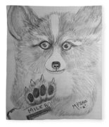 Corgi Pup Fleece Blanket