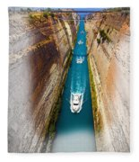 Corinth Canal  Fleece Blanket