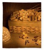Cork And Basket 1 Fleece Blanket