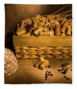 Cork And Basket 3 Fleece Blanket