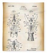 Cork Extractor Patent  1930 Fleece Blanket