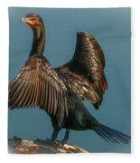 Cormorant Wings Fleece Blanket