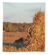 Corn At Harvest Fleece Blanket