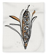 corn- contemporary art by Linda Woods Fleece Blanket