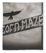 Corn Maze Fleece Blanket