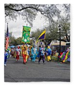 Corner Club 4 - Mardi Gras New Orleans Fleece Blanket