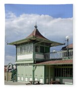 Corner Detail Of The Pavilion - Ryde Fleece Blanket