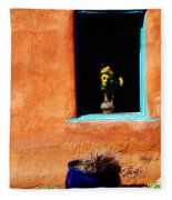 Corner In Santa Fe Nm Fleece Blanket