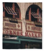 Corner Market Pikes Place Market Fleece Blanket
