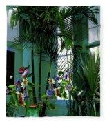 Corner Office, Key West, Fl Fleece Blanket