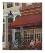 Corner Restaurant Fleece Blanket