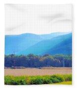 Cornfield On Bright Autumn Day 3 Fleece Blanket