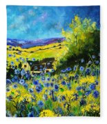 Cornflowers In Ver Fleece Blanket
