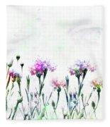 Cornflowers Watercolor  Fleece Blanket