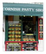 Cornish Pasty Shop Fleece Blanket