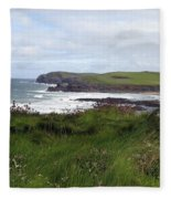 Cornwall Coast 3 Fleece Blanket