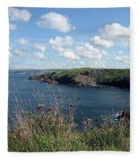 Cornwall Coast 4 Fleece Blanket