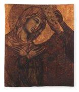 Coronation Of The Virgin 1311 Fleece Blanket
