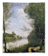 Corot: Cathedral, C1855-60 Fleece Blanket