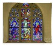 Corr Hall Stain Glass Fleece Blanket