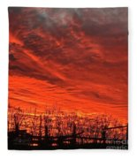 Corral Sunset Fleece Blanket
