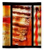 Corrugated Iron Triptych #4 Fleece Blanket
