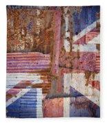 Corrugated Iron United Kingdom Flag Fleece Blanket