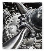 Corsair F4u Engine Fleece Blanket