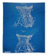 Corset Patent Series 1908 Fleece Blanket