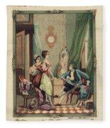 Corset Trade Card, 1912 Fleece Blanket