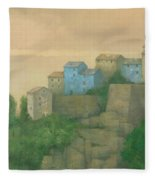 Corsican Hill Top Village Fleece Blanket