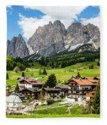 Cortina D'ampezzo, Italy Fleece Blanket
