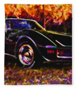 Corvette Beauty Fleece Blanket