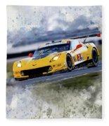 Corvette Racing Fleece Blanket