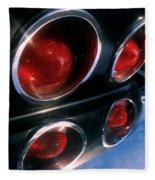 Corvette Tail Lights Fleece Blanket