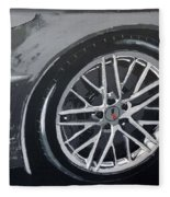 Corvette Wheel Fleece Blanket