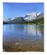 Cosley Lake Outlet - Glacier National Park Fleece Blanket