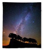 Cosmic Caprock Bison Fleece Blanket