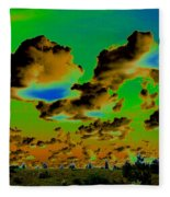 Cosmic Cloud Skyline Fleece Blanket