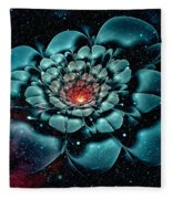 Cosmic Flower Fleece Blanket